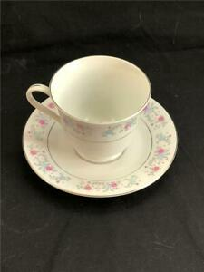 1987 F T D A Tea Cup And Saucer Bone China