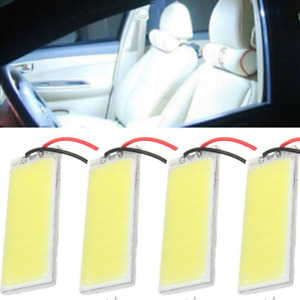 4x 12v Xenon Hid White 36cob Led Dome Map Light Bulbs Car Interior Panel Lamps