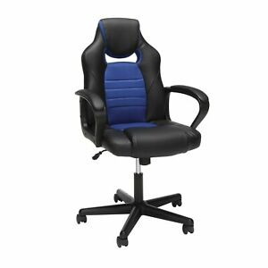 Essentials Gaming Chair Racing Style Ergonomic Mesh And Leather Computer Ch