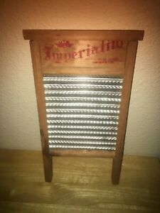 Vtg Imperialito 14 X8 Salesman Sample Or Sock Washboard Wood Metal Cute