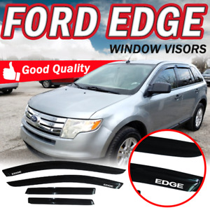 For 07 14 Ford Edge Window Visors Slim Smoke Stick On Guard Vent Deflector 4pc