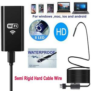 8mm Wifi 1200p Hd Endoscope Inspection Video Camera Borescope For Iphone Android