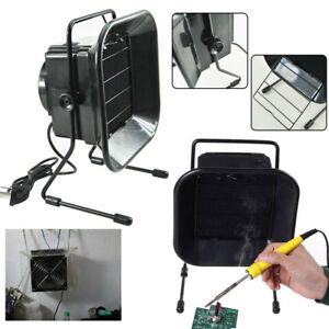 Solder Smoke Absorber Remover Fume Extractor Air Filter Fan Esd Soldering Black