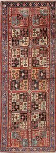 Vintage Malayer Hamadan Runner Rug Wool Hand Knotted Geometric Oriental 4x10