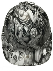 Hard Hat Ridgeline Hydro Dipped Cap Style Custom White Naughty Boy W T shirt