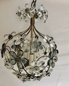 C1920 French Maison Bagues Crystal Chandelier