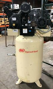 Ingersoll Rand 2475 Air Compressor 7 5 Hp 2475n7 5 80 Gallon Vertical Tank 3ph