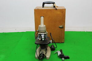 Vickers Instruments Microscope M14 2 Patent No 877813 In Wooden Case