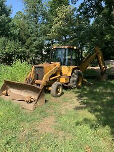 John Deere 410b Tractor Loader Backhoe With Cab And Heat