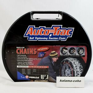 Auto Trac Track 0231810 Tire Snow Chains Self Tightening