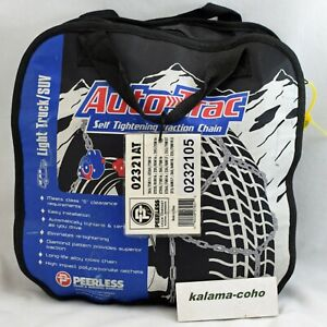 Auto Trac Track 0232105 Tire Snow Chains Self Tightening