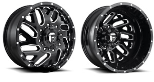 20 Fuel Triton Dually D581 Wheels Rims 8x210 Chevy Silverado 3500 Set Lifted