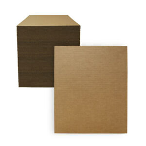 100 11 X 14 Corrugated Cardboard Pads inserts sheets 32 Ect Made In Usa