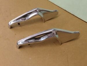 Nos Chevrolet 1962 1963 64 65 Nova Rear Bumper Guards Pair 17