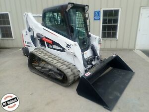 2016 Bobcat T595 Skid Steer Erops Heat ac Hi Flow 2spd 398 Hrs 74hp Diesel