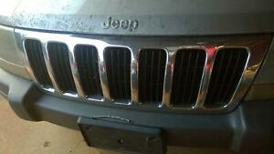 1999 2000 2001 2002 2003 Front Grill Grille Chrome Jeep Grand Cherokee Oem