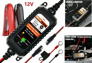 Automatic 12v 800ma Battery Charger Maintainer Tender Car Motorcycle Atv Boat