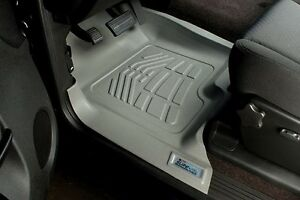 Front Row Floor Mats By Wade Gray 2007 2014 Chevy Silverado Extended Cab