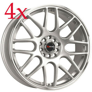 Drag Wheels Dr 34 17x7 5 5x108 5x115 Silver Rim For Jaguar S type X type Lincoln