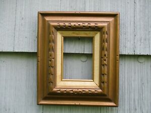 Vintage Mid Century Mexican Carved Wood Picture Frame Fits 5x7