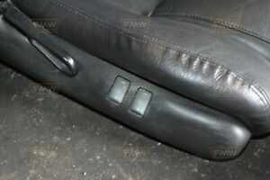 82 02 Firebird Trans Am Ebony Black Leather Seats Front Rear Hot Rod 93 97 98