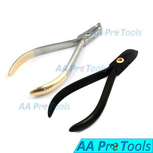 Tc Hard Wire Cutter Black Distal End Cutter Silver Dental Ortho Pliers X 2