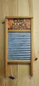 Vtg Dubl Handi Washboard Clothes Washing Board Columbus Ohio Laundry Room
