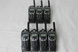 Lot Of 7 Motorola Cls1450c Two way Radios W Belt Clips Batteries worn Buttons