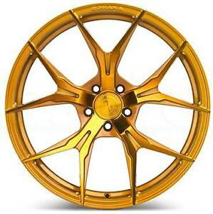 4 new 20 Rohana Rfx5 Wheels 20x9 20x10 5x112 35 45 Gold Staggered Rims
