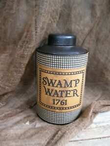 Early Antique Pantry Tin Swamp Water The Witch S Pantry Free Shipping