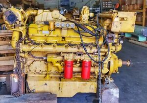 Caterpillar Cat 3412 Marine Diesel Engine 520 Hp