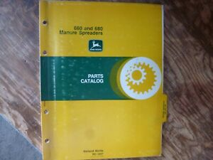 John Deere 660 680 Manure Spreader Parts Catalog Manual Book Original Pc 1637