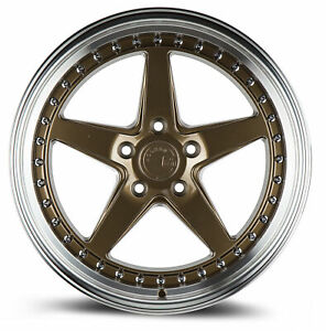 4 new 18 Aodhan Ds05 Ds5 Wheels 18x8 5 18x9 5 5x114 3 35 30 Bronze Staggered Ri