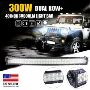 32 Inch Curved 180w Led Work Light Bar Combo Offroad Suv Lamp Car Light 4wd Wf