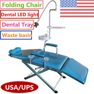 Dental Portable Folding Chair Led Surgical Light Tray water Supply System Kits