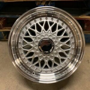 16 Rs Style Wheels Rims Silver Fits E30 Bmw 3 Series Toyota Yaris Tercel