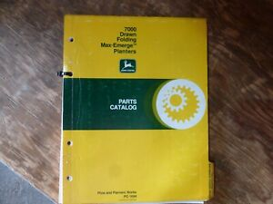 John Deere 7000 Folding Max emerge Drawn Planter Parts Catalog Manual Pc 1694