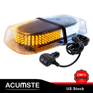 240 Led Emergency Warning Car Truck Roof Top Strobe Snow Plow Light Amber White