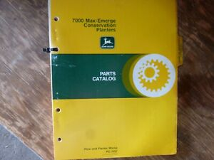 John Deere 7000 Max emerge Conservation Planter Parts Catalog Manual Pc 1657