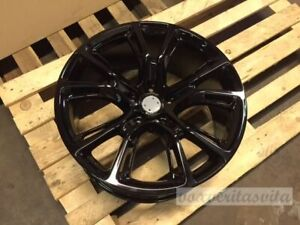 22 Gloss Black Srt Srt8 Style Wheels Rims Fits Jeep Grand Cherokee Gc Laredo