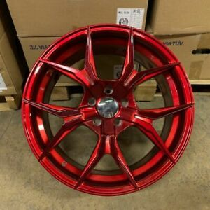 Brand New Set Of 4 Wheels 19 Rex Style Candy Red Fits Bmw 5x120 5x4 75