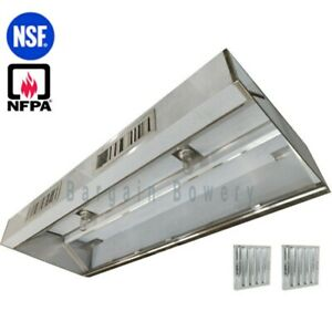 15 Ft Restaurant Commercial Kitchen Exhaust Hood Make Up Air Supply Air Type I