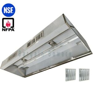 16 Ft Restaurant Commercial Kitchen Exhaust Hood Make Up Air Supply Air Type I