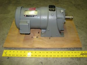 Us Electric 1 Hp Motor With Syncrogear Gear Reduction Tf gd 11 39 1 Ratio 3phase