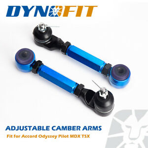 Blue Rear Adjustable Camber Kit For Honda Accord 2003 2007 Acura Tsx 2004 2008