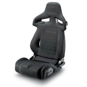 Sparco R333 Racing Tuning Reclining Adjustable Sports Seat Black