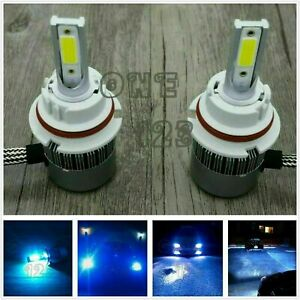 H4 9003 Hb2 8000k Ice Blue 55w Cree Led Headlights Bulb Kit High Low Beam Canbus