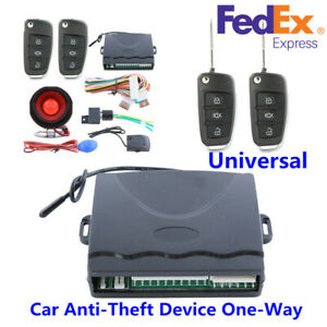 Us Ship Car Alarm System One Way Anti Theft Device Security Alert Remote Control