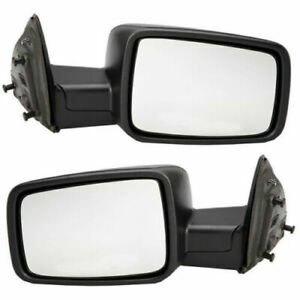 Fits For Dodge Ram Truck 2009 2010 2011 2012 Mirror Manual Right Left Pair Set