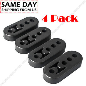 4 Universal Car Rubber Exhaust Tail Pipe Mount Brackets 4 Holes Hanger Insulator